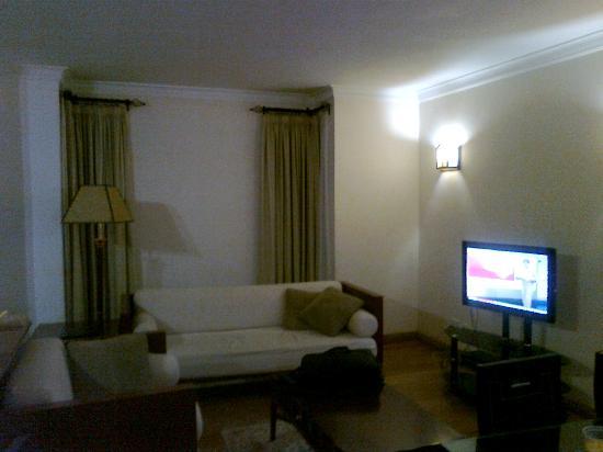 Natural Oak Apartments: hall & tv