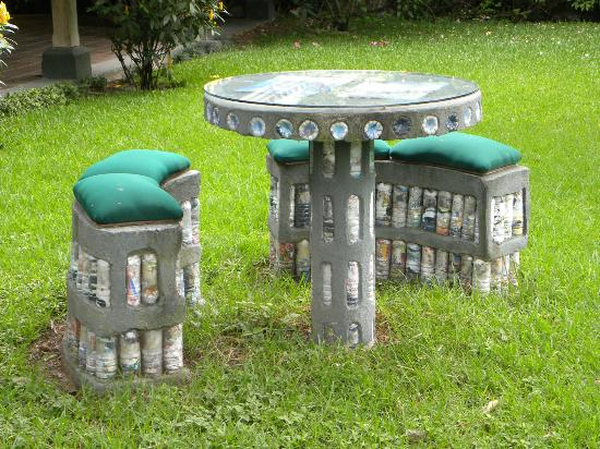 Hotel Posada de Don Rodrigo Panajachel: Giardino-dettaglio