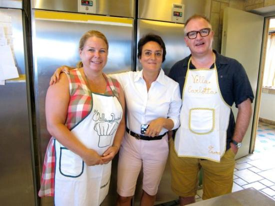 Hotel Villa Carlotta: Cooking school grads