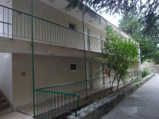 Hotel Nimfa: les coursives des chambres