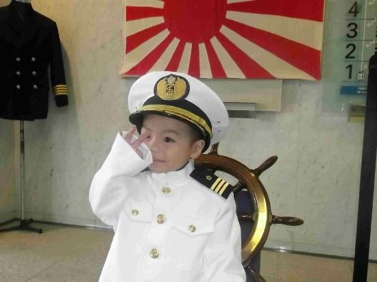 Maritime Self-Defense Force Sasebo Museum : 海自制服の試着