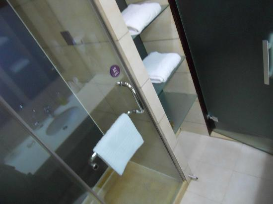 West Lake Golden Plaza Hotel : baño con ducha