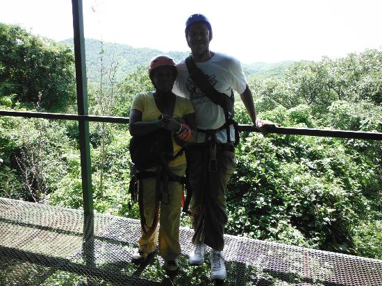 The Congo Trail Canopy Tour: Me and Hubby