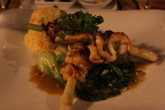 La Residence Hue Hotel & Spa: Calamari skewered on lemongrass