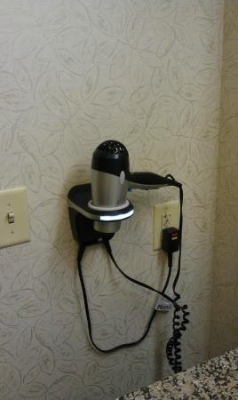 Hampton Inn Pigeon Forge: hair dryer /w holder as well as night light