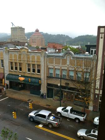 Aloft Asheville Downtown: view from window