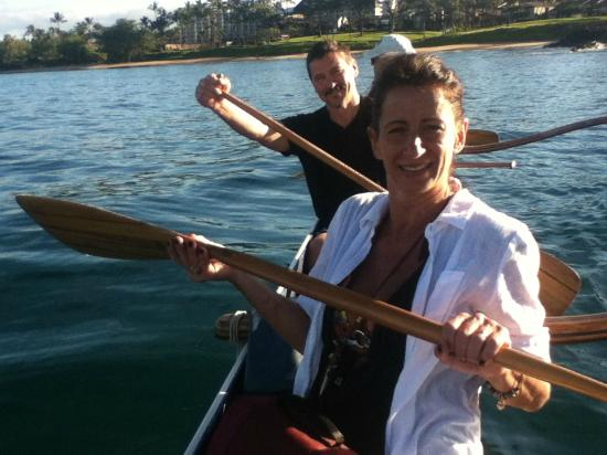 Four Seasons: on our Outrigger canoe excursion! Fun!!