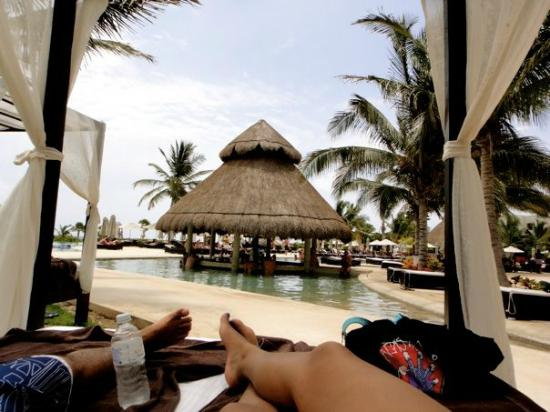 Secrets Maroma Beach Riviera Cancun: view from our poolside cabana/ Pool bar