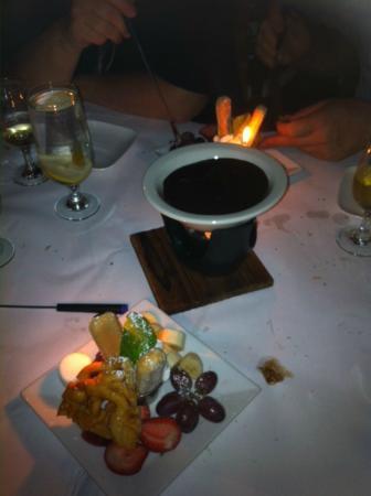 The Wine Cellar: Chocolate fondue
