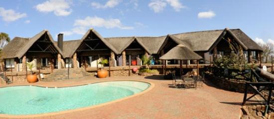 Zulu Nyala Game Lodge: Safari Lodge stitched panorama