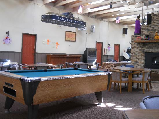 Cecil Fireside Inn: pool table and games