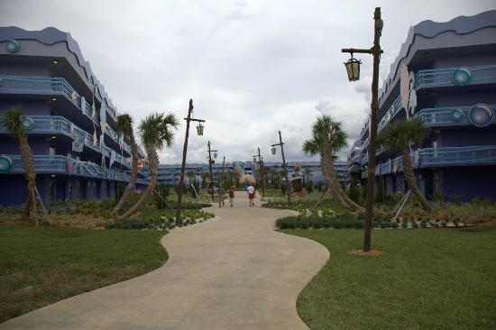 Disney's Art of Animation Resort: This was the walk to the Little Mermaid area