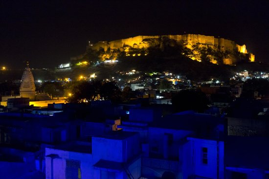 View from Roof top restaurant at THE BLUE HOUSE GUEST HOUSE JODHPUR