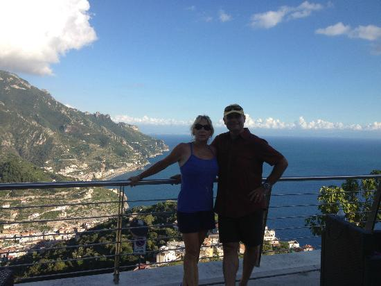 Hotel Maison Raphael: View from hike to Ravello from Minori