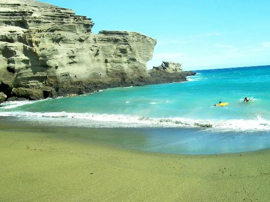 Νααλέχου, Χαβάη: Green Sands Beach, Papakolea Kona Hawaii 09-29-2012