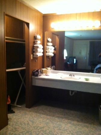 Red Carpet Inn Boone: vanity area