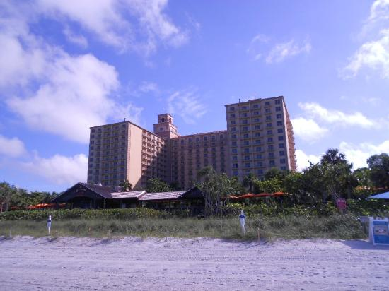 The Ritz-Carlton, Naples: View of teh hotel from the beach