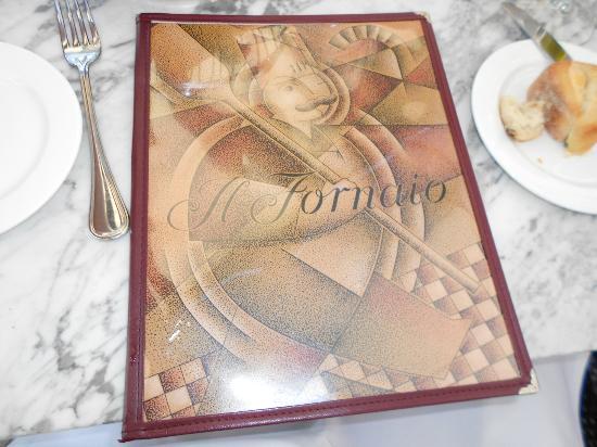 Il Fornaio : the menu