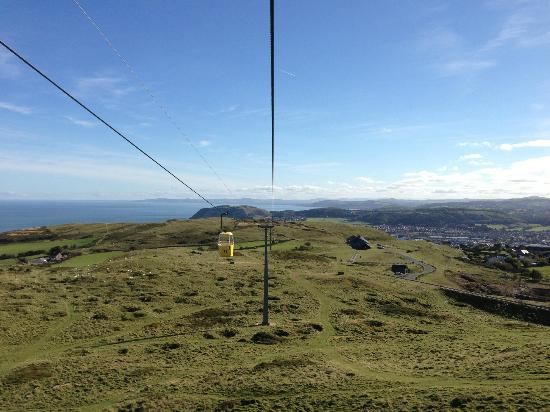 Great Orme Cable Cars: View on our descent