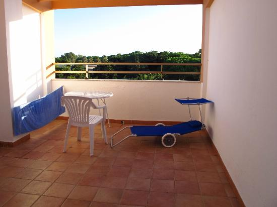Hotel Oasis: Balcony, with Franco's lounger