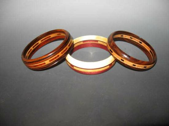 Biesanz Woodworks: Inlaid bracelets of precious woods - affordable!