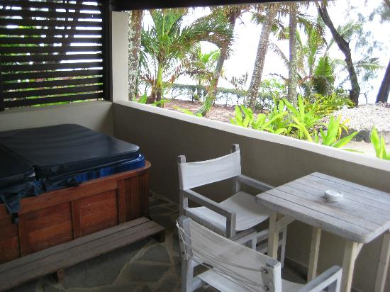 Crown Beach Resort & Spa: Beachfront villa deck