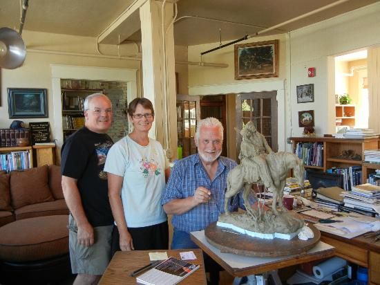 Hot Lake Springs: With David and Shoshone Moon in his studio