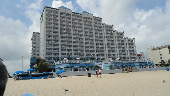 Holiday Inn Hotel & Suites Ocean City: View of hotel from beach.