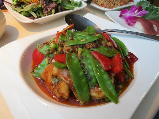Ginger Garden:                   Szechaun dish with shrimp