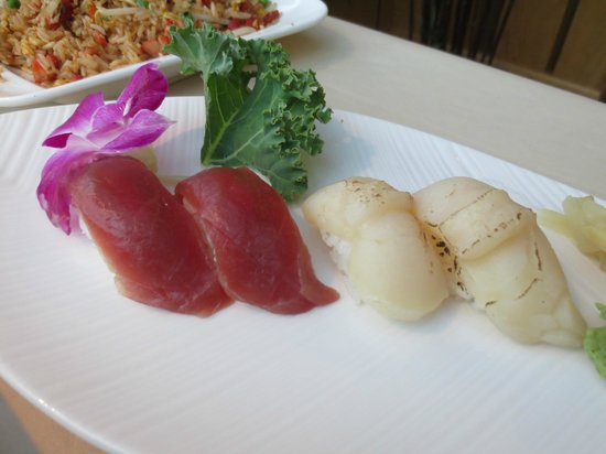 Ginger Garden:                   Always fresh sushi