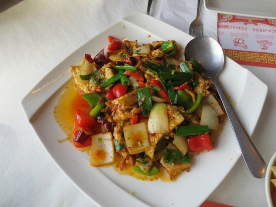 Ginger Garden:                   Szechuan dish with chicken