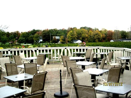Vineland Estates Winery Restaurant: Outdoor seating (weather permitting)