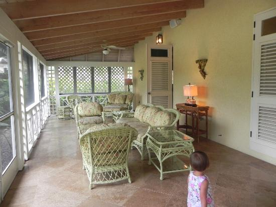 Four Seasons Resort Nevis, West Indies: Screen porch.