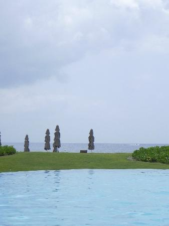 Four Seasons Resort Nevis, West Indies: View of the beach from the pool area.