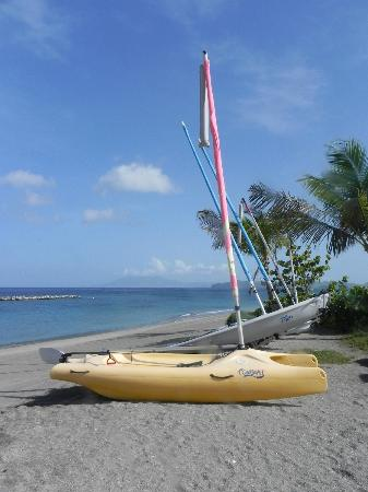 Four Seasons Resort Nevis, West Indies: Sailboats on the beach.