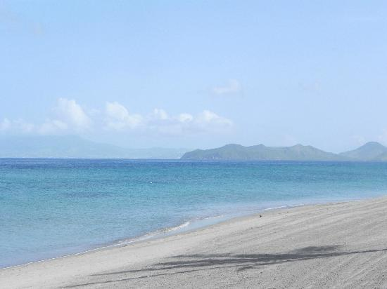 Four Seasons Resort Nevis, West Indies: View from the beach towards St. Kitts