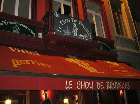 Le Chou de Bruxelles: Outside the restaurant