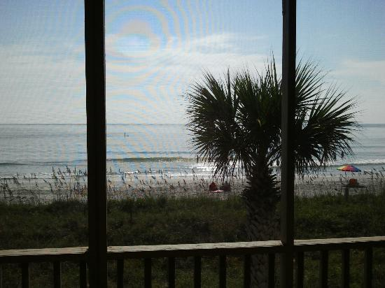 Oceanfront Litchfield Inn: View of beach straight out from 2nd floor dunes