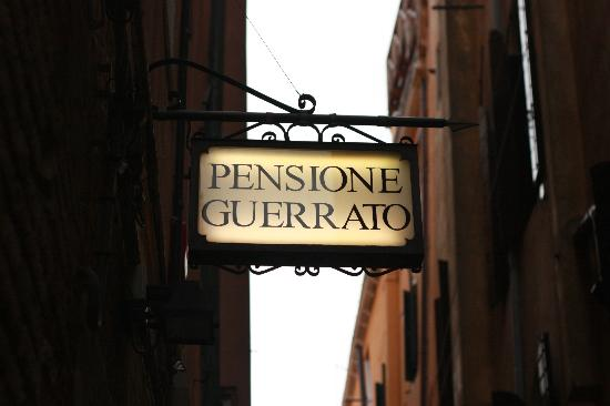 Pensione Guerrato: Hotel signage, very easy to find and close to water bus stop