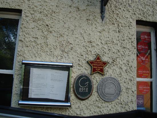 Sha-Roe Bistro Clonegal, Co. Carlow Awards