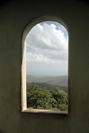 Yokahu Observation Tower: View ascending the staircase