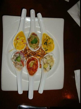 Jaguar Ceviche Spoon Bar and Latin Grill: Ceviche sampler