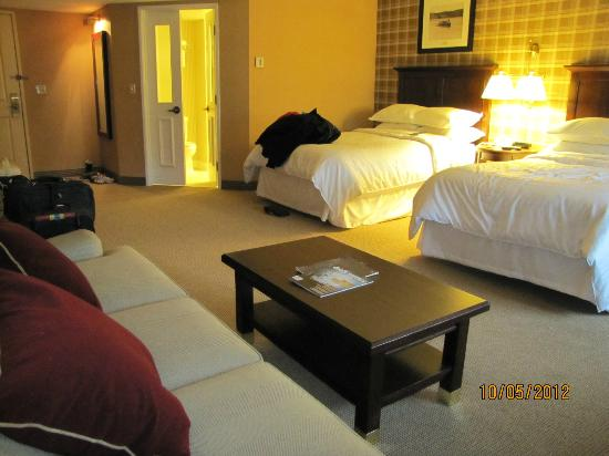 Sheraton Duluth Hotel : 2 queen beds with sofa bed