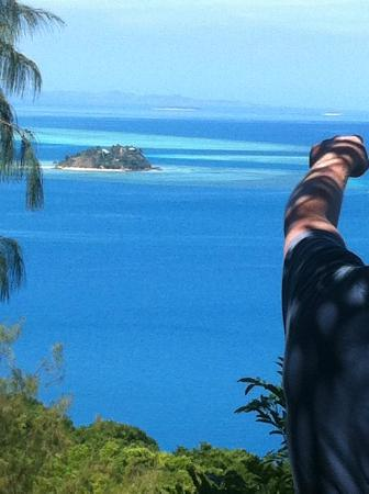 Castaway Island Fiji: view from the top of the island walk