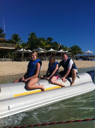 Castaway Island Fiji: Banana Boat ride