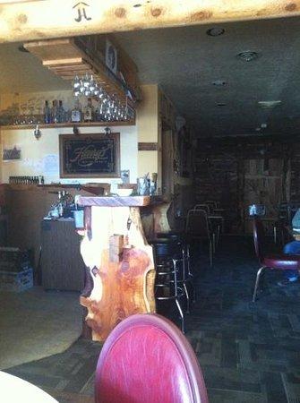 Big Timber Family Restaurant: great rustic bar
