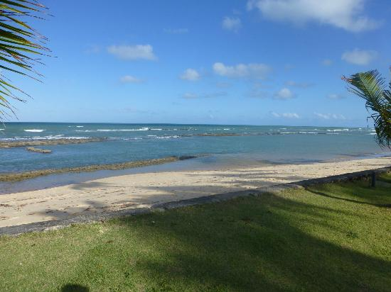 Arraial D'Ajuda Eco Resort: vista da praia do hotel na mare baixa