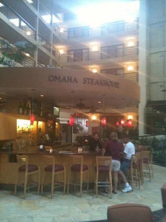 Omaha Steakhouse: I love Omaha Steaks whether cooked fresh or delivered to my door in an ice chest.