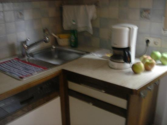 Ganser Alpine Apartments: More Kitchen Counter with Coffee Maker