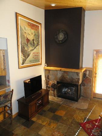 Courchevel at Deer Valley: Gas log fire and Google TV
